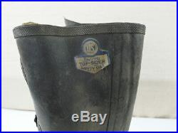 #02 US ARMY M-1945 Korean War Hook Clasp Rubber Boots Stiefel 1118