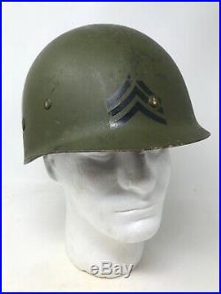 14th Infantry US Korean War Reissued WWII 1944 M1 McCord Front Seam Helmet Relic