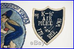 18th Fighter Bomber Wing Air Police Patch Korean War + Badge and Bullion 5 AF MP