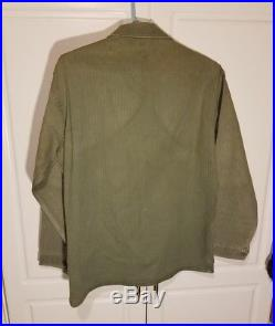1940s Vintage USMC P47 HBT Jacket WW2 Korean War Era Marine Corps Named