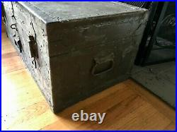 1949 Korean War Trunk Doehler Footlocker Short Steamer Trunk Flat Top