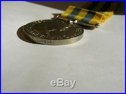 1950-53 British Korean War medal Army Sapper F T Lovell Royal Engineers