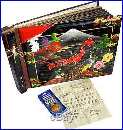 1950 KOREAN WAR SEOUL INCHEON Photo Album with War Medal RARE VIEWS