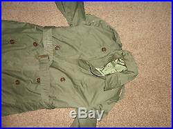 1950's KOREAN WAR Trench COAT & HEAVY WOOL Removable Liner 7th Army Division