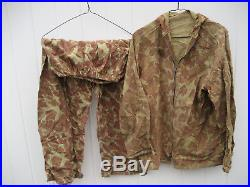 1950's Korean War Era US Army 1st DIVISION Camouflage Jacket Trousers SMALL 6A