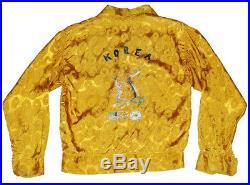 1950's Vintage Korean War Rayon Jacket Medium-Large embroidered Souvenir