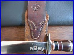 1950s Korean War Era Randall Model 1-8 Knife Theater Handle Heiser Sheath