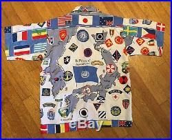 1950s Korean War United Nations Hawaiian Shirt Rayon