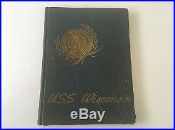 1951-52 Uss Wisconsin Bb-64 Korean War Deployment Navy Cruise Book