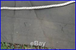 1951 Hoosier Canvas Tarp Korean War Navy Military Tent Truck Hunting Camp 10x20