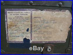 1951 USAF SQUADRON AIRCRAFT PARTS CASE w BINS US Air Force Engineers KOREAN WAR