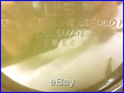 1952 Coleman Military Green Lantern Korean War Era With Original Box