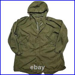 1952 Fishtail Parka Shell Jacket M-1951 Korean War Military Vintage USA 1950s