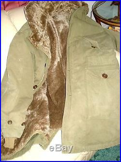 1952 Korean War Fully Lined Hooded Parka Purchased From Marine It Was Issued To