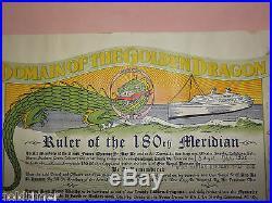1952 Korean War Navy Usns Marine Serpent Domain Golden Dragon Certificate