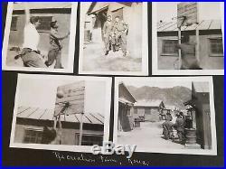 1952 Korean War U. S. Airforce Airman Photo Album 388 Photos & Items