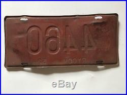 1952 RYCOM Ryukyu Islands US Army Forces Japan License Plate Korean War Okinawa