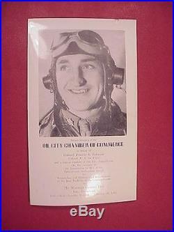 1952 Top Wwii Eto / Korean War Ace Gabby Gabreski Oil City Pa Award Booklet