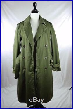 1953 Korean War US Army Overcoat Cotton OG 107 Wool Liner Sz Reg Small SP4 Patch