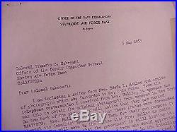 1953 Top Wwii Eto / Korean War Ace Gabby Gabreski Letters Re Pow Edwin Heller