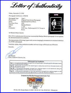 1954 Marilyn Monroe USO Tour Korean War 7 x 9 PSA/DNA Type I Original News Photo