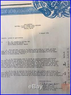 1954 Set Of 5 Original Korean War Letters Army Headquarters