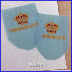 1st Commonwealth Division Patches Korean War Silk Badges Embroidered Kings Crown