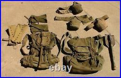 2 Old Relic US WW2 / Korean War / Vietnam War era M-1945 Combat Backpack USED