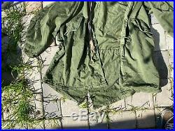 50s Vtg Korean War Era US Army Olive M51 1951 Fishtail Parka Jacket Coat Sz L