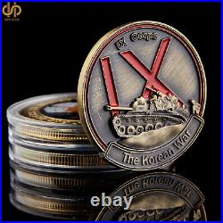 5PCS Korean War 38TH Parallel US. Army IX Corps Copper Forgotten War Coin Collect