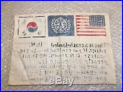 American U. N. Pilot Soldier Blood Chit Korean War