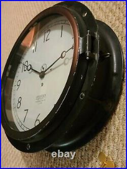 Antique 1953 CHELSEA Clock Co. Boston Large 15 Ship Engine Room Nautical Clock