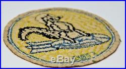 Antique Korean War Patch Stinky Skunk On Bomb Original Mega Rare Foxy Few Pilot