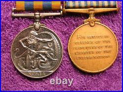Australia Korea Pte James D Maxwell 3 Rar Medals
