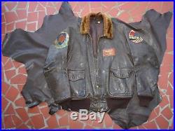 B-g Inc Pre Korean War Usn Repro G-1 Leather Flight Jacket Size 40 Or New Build