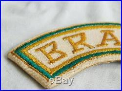 BRAZIL Korean WAR ADVISOR TAB Patch MILITARY ADVISOR Named RARE Brasil AIR FORCE