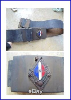 Bataillon Français Corée insigne ceinturon guerre boucle laiton FR Korean war