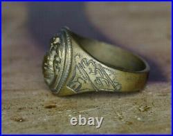 Beautiful Hand/Theater Made Korean War U. S. Marine Corps EGA Brass 1953 Ring