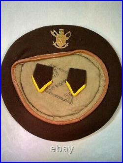 Belgian Army Korean War Beret and badge Para Commando BUNC