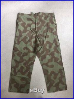 Belgian Army Wave 1948 Camoflauge Trousers Korean War Korea Denison Belgium