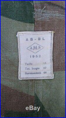 Belgian Congo Denision Paratroper Jump Smock- Rare Pattern Korean war 1952 dated