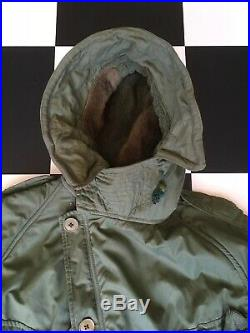 British Army Middle Parka With Hood Size 8 Korean War Mods Scooter