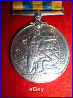 British KOREAN War Medal. King's Shropshire Light Infantry Britt Omn, 1st Type