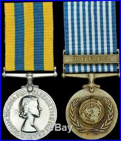 British Medal Group KOREAN WAR Medals to BIXBY famous BLACK WATCH Red Hackles