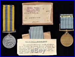 British Medal Group KOREAN WAR Medals to PEACOCK of ESSEX REGIMENT Ex RARE