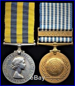 British Medals KOREAN WAR Medal Pair MCARTHUR BLACK WATCH WOUNDED IN ACTION