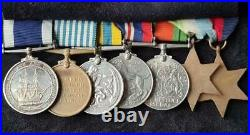British WW2, Korean War & Royal Navy LSGC Group of Seven