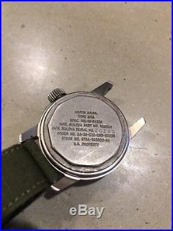 Bulova Military A-17A Wristwatch, Hack, Korean War Era (1952), 10BNCH, Running