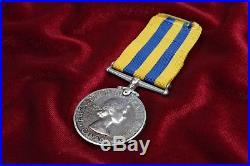 CANADIAN KOREAN WAR SERVICE MEDAL NAMED TO 1st HUSSARS