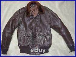 Cagleco 1950's Model G-1 7823 (aer) Korean War Leather Usn Flight Jacket Sz 40